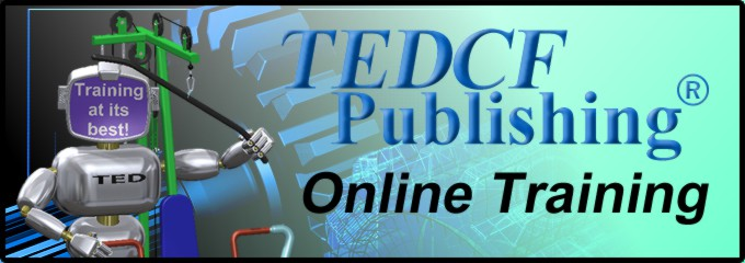 TEDCF Publishing Online Training Logo